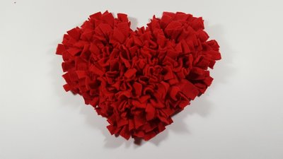 Snuffelmat in hartvorm